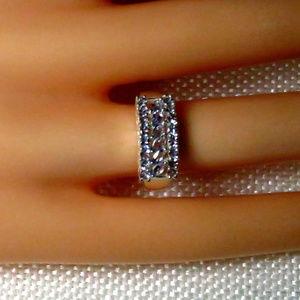Jewelry - Tanzanite Gemstone & Sterling Wide Band Ring